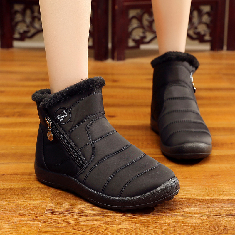 Plus Size 35-43 Snow Boots Women Keep Warm Round Toe Zipper Women Boots Shoes   2018 Fashion Casual Cozy Winter BootsPlus Size 35-43 Snow Boots Women Keep Warm Round Toe Zipper Women Boots Shoes   2018 Fashion Casual Cozy Winter Boots