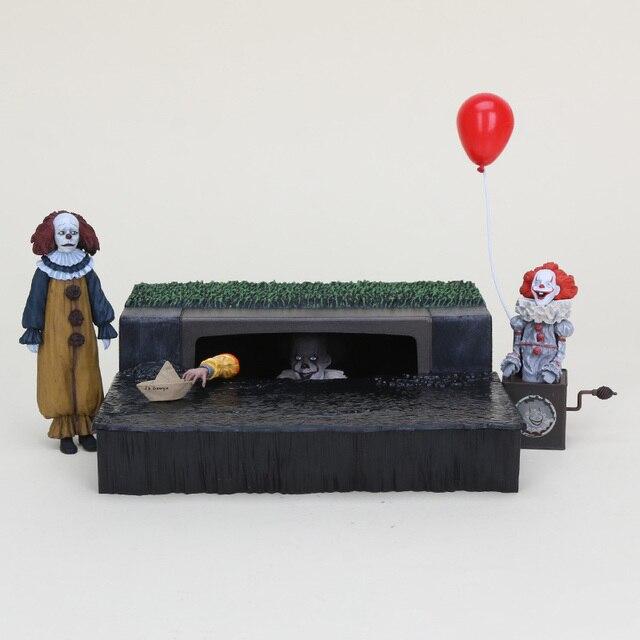 Stephen King é Pennywise NECA PVC Figure Toy Collectible Modelo O Palhaço QUE Acessório Conjunto Palhaço Pennywise Figura de Ação