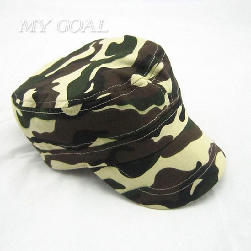 New Fashion Summer Kids Girls Boys Camo Camouflage Military Army Cadet Hat  Flat Bill Sun Cap Children Outdoor Sports Hats Caps 2348e94ad5b