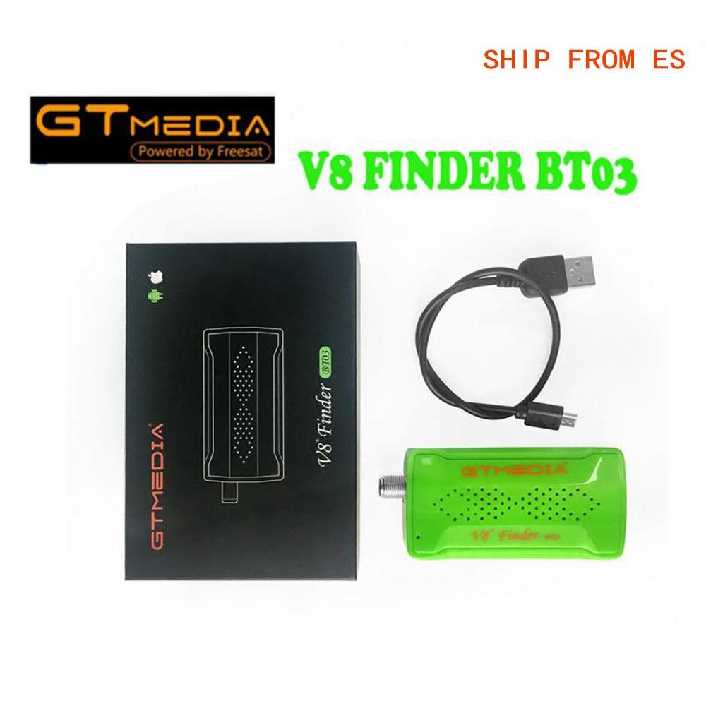 Freesat V8 Finder BT03 1pcs 1080p satFinder vs freesat v8 finder DVB S2 bluetooth control via android i phone for hd signal in Satellite TV Receiver from Consumer Electronics