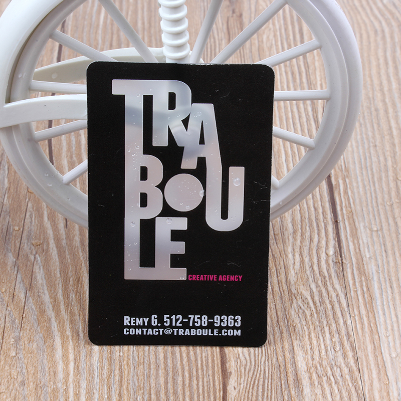 Custom business card printing transparent pvc plastic post full custom business card printing transparent pvc plastic post full color frosted rounded corners free shipping in business cards from office school supplies reheart Images