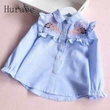 Hurave/летние блузки; брендовые рубашки для девочек; кружевные детские блузки с вышивкой; детская одежда; одежда для малышей; блузка