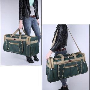 Image 4 - 防水男性に運ぶ巨大な荷物バッグメンズダットラベルトート大週末バッグクロスボディハンドバッグ