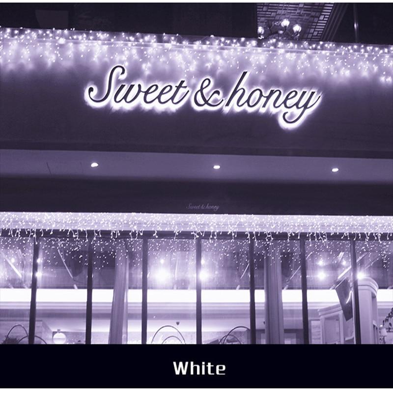 3x3M LED Curtain Light Garland LED Holiday Lighting String Lights for Fairy Wedding Christmas New Year Indoor Garden Decoration rose flower led garland on batteries string light valentine s day christmas indoor celebration wedding decoration fairy lights
