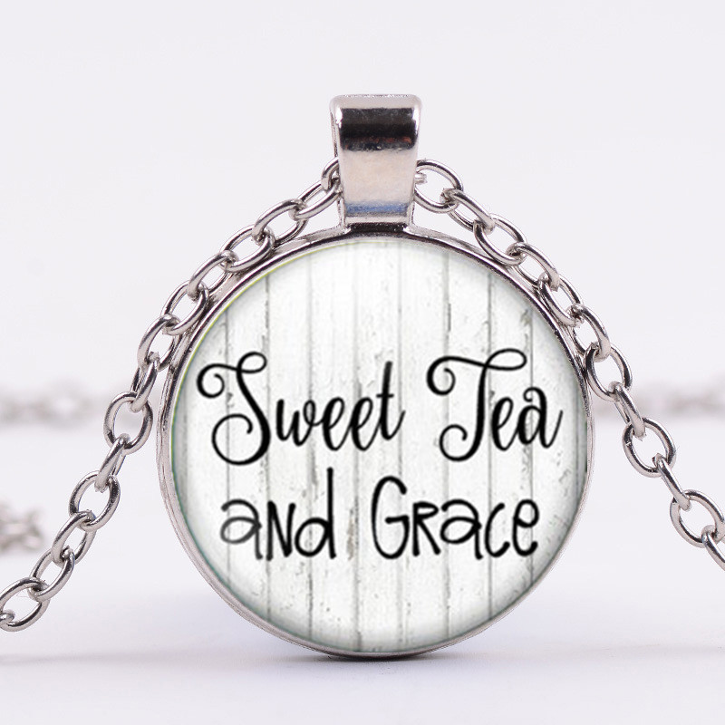A15 Sweet Tea and Grace Necklace Mason Jar Necklace Southern Charm Mason Jar Jewelry Gifts under 20 Simply Southern Mason Ja