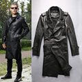 winter genuine sheep leather jacket clothing male sheepskin turn-down collar casual men's wind coat
