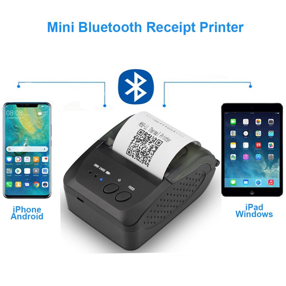 Mini téléphone Portable portatif d'usb de Machine de reçu d'imprimante thermique d'imprimante de Bluetooth pour Android iOS 58mm