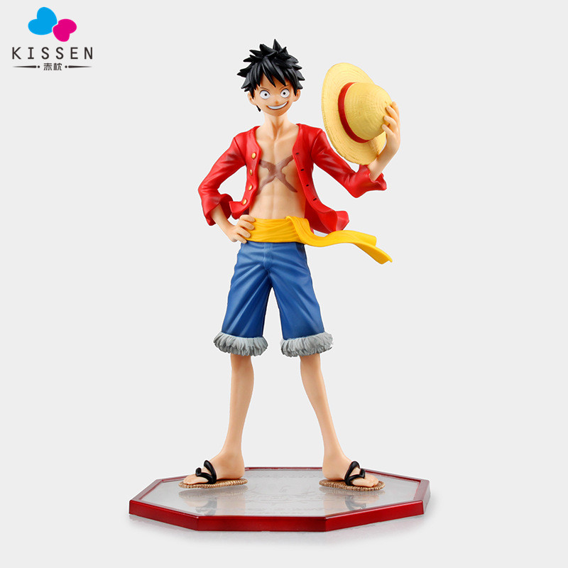 Kissen Anime One Piece pop Monkey D Luffy PVC Action Figure Collection Toy 24 CM 25cm anime one piece edition film z monkey d luffy pop pvc action figure collection toy op068