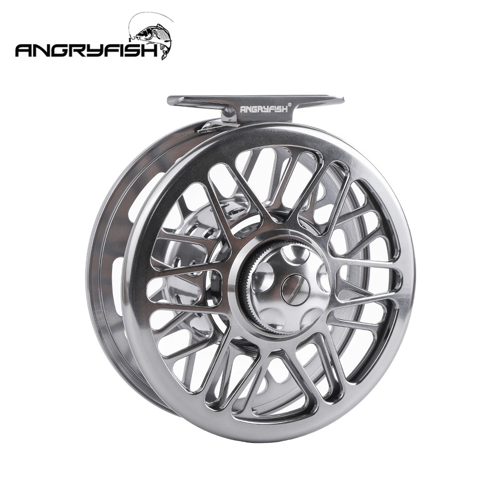 ANGRYFISH Fly Fishing Reel 2+1BB Full Metal Aluminum Alloy Die Casting Fly Reel Fishing Reel with Large Arbor
