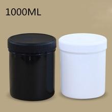 2PCS/lot Plastic container 1000ML storage jar Food Grade material Nut,Paint,glue,cosmetic packaging jar No-leak