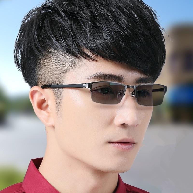 Vazrobe Photochromiques Lunettes Hommes Conduite transition lunettes de Soleil UV400 pour Dioptrique/myopie Homme Pilote de 5S changement couleur lentille TR90