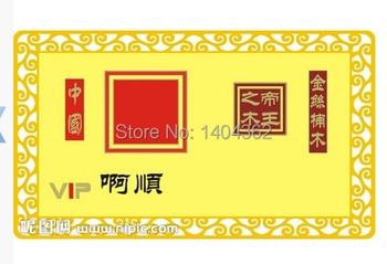 golden  Metal Business Card printing Visit Card,Double-side, square corner metal card free designing