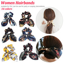 2019 New Chiffon Bow knot Silk Hair Scrunchies  Ponytail Holder Tie Rope Korean Style Rubber Bands Accessories