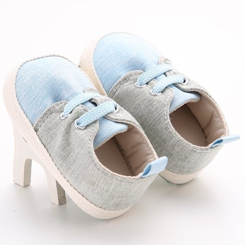 Baby Shoes Breathable Canvas Shoes 0-1 Years Old Boys Shoes Comfortable Girls Baby Sneakers Kids Toddler Shoes #06 Pakistan