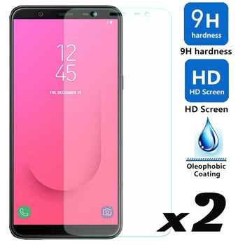 2pcs/lot Tempered Glass Screen Protector Explosion-proof Bubble Free Front Films For Samsung Galaxy J8 2018 J810F J810G J810Y