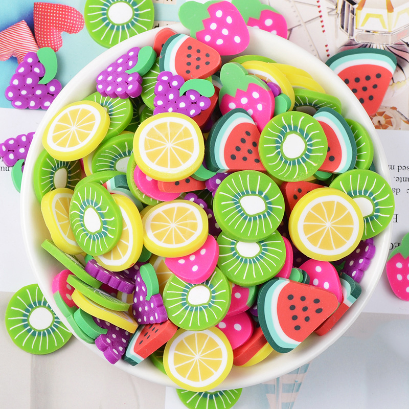 Happy Monkey 30pcs/pack Fruit Additives For Slices Slime Charms Supplies Toys Decoration Filler  For Fluffy Clear Cloud Slime