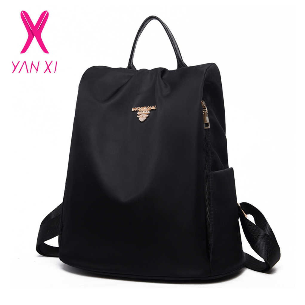 270c90fc7b05 YANXI Brand Women s Oxford Backpack Female Casual Shoulder Bag Fashion  Waterproof Travel Bags Teenagers Girls School