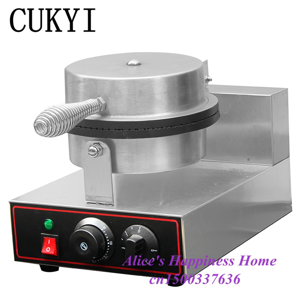 CUKYI Electric Non-stick Single Head ice cream waffle cone baker//waffle maker Ice Cream Cone Maker / waffle machine 220V ice cream cone machine cone maker waffle machine cone baker