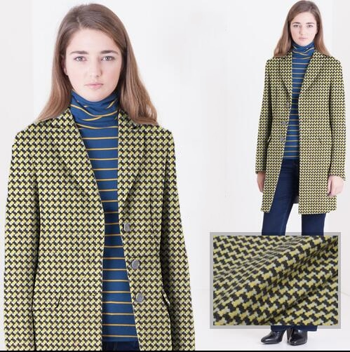 Green weaving wool polyester cotton fabric suit coat printing Textile hollandais african sequin Christmas cloak fabric A122 in Fabric from Home Garden