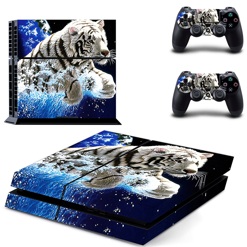 HOMEREALLY PS4 Skin White Tiger Game PVC Sticker Full Cover For Sony Playstation 4 Console and Controller Ps4 Accessory Sticker