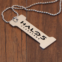 Game Halo 5 Guardians Metal Tag Figure Keychain Keyring Pendant Necklace Collectibles Gift