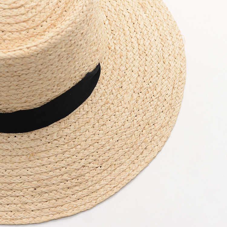 7d4f114682b ... Muchique Bucket Hat Summer Beach Sun Hats for Women 2017 Raffia Straw  Hats with Ribbon Tie