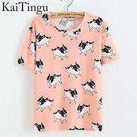 KaiTingu Brand New Fashion Spring Summer Style Harajuku T Shirt Women Clothes Tops O Neck Tee