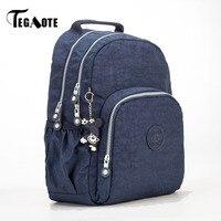 TEGAOTE Solid Simple Backpack Women Waterproof Shoulder Bags Teenage Girls Casual School Bagpack Brand Travel Mochila