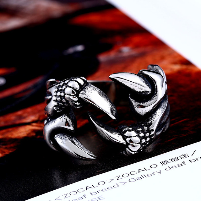 Beier new store 316L Stainless Steel ring Dragon Claw Ring for Men Fashion  Jewelry Biker Trendy  LLBR8-191R