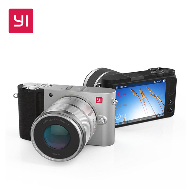 YI M1 Mirrorless Digital Camera International Version With YI 12-40mm F3.5-5.6 Zoom Lens LCD RAW 20MP Video Recorder 720RGB H264