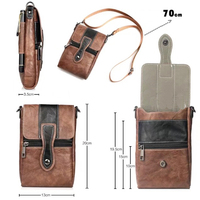 Holster Man Shoulder Belt Clip Mobile Phone Leather Case For Moto Z Z Play Z2 Play