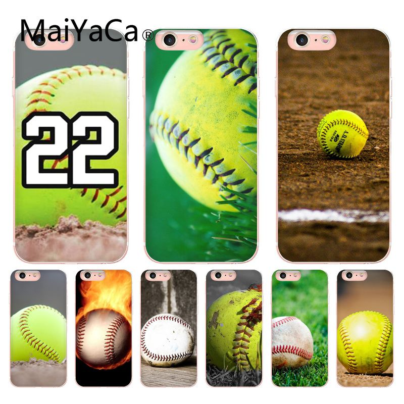 MaiYaCa Softball Colorful Cute Phone Accessories Case For iphone 8 8plus 7 7plus 6 6plus XS XR XSMAX Mobile cover tee ball