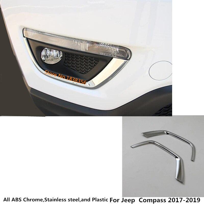 For Honda CR-V CRV 2017-2019 Chrome Front Head Fog Light Lamp Cover Trim Eyebrow