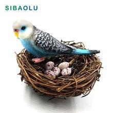 Diy моделирование животного модель попугая Птичье гнездо Статуэтка