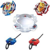 2pcs Beyblade Burst Metal Funsion 4D Spinning Top B107 Beyblade Set With Launcnher And Stage