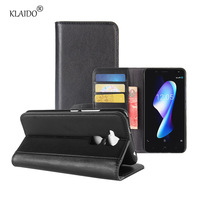 KLAIDO Genuine Leather Mobile Phone Case For BQ V Plus Case Leather Wallet Stand Card Holder