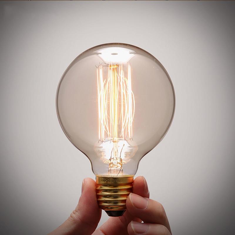Antique Vintage Retro Edison Light Bulbs 220V E27 40W Incandescent Light  Bulb G80 G95 G125 Filament