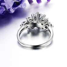 Women Titanium Steel Flower Rings
