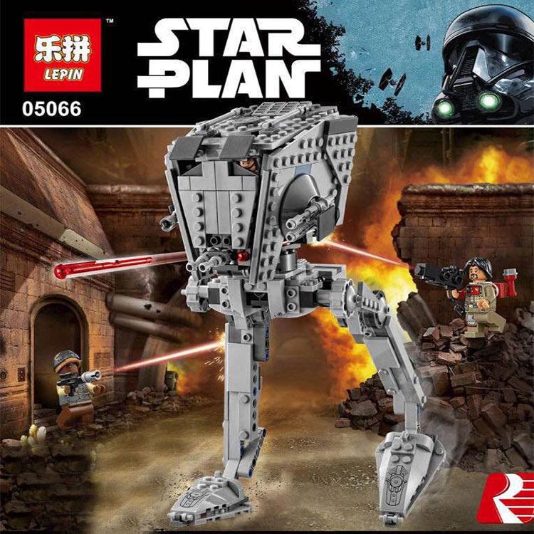 Nueva Lepin 05066 Genuino Serie Star El Rogue Uno Imperial AT-ST Andador Juego d