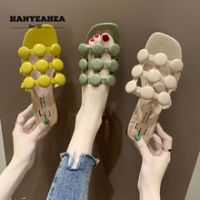 Hollow Summer Slippers Casual Fashion Flat Classic Fashionable Green Yellow Beige