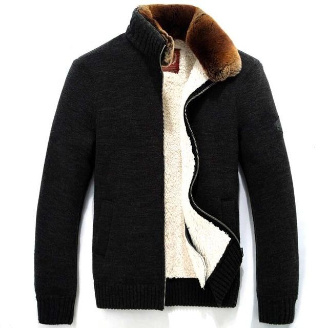 TOP Quality Brand Down Parka Men Rex Rabbit Fur Coat Winter Coat Men Warm Fleece Mens Jackets And Coats,Large Size,Manteau Tomme