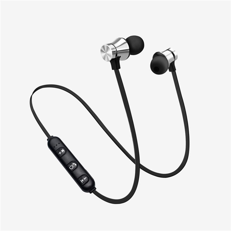 Newest Wireless Headphone Bluetooth Earphone Headphone For Phone Neckband sport earphone Auriculare CSR Bluetooth For Smart Phone silver