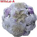 14 Colors Crystal Brooch Bridal Bouquets Wedding accessories Bridesmaid Artifical Wedding Flowers Bridal Throw Bouquets W275