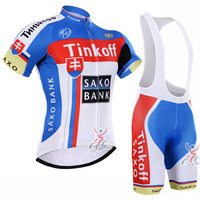 pro team tinkoff saxo bank cycling jersey kits Bicycle maillot breathable MTB quick dry bike Ropa ciclismo gel pad