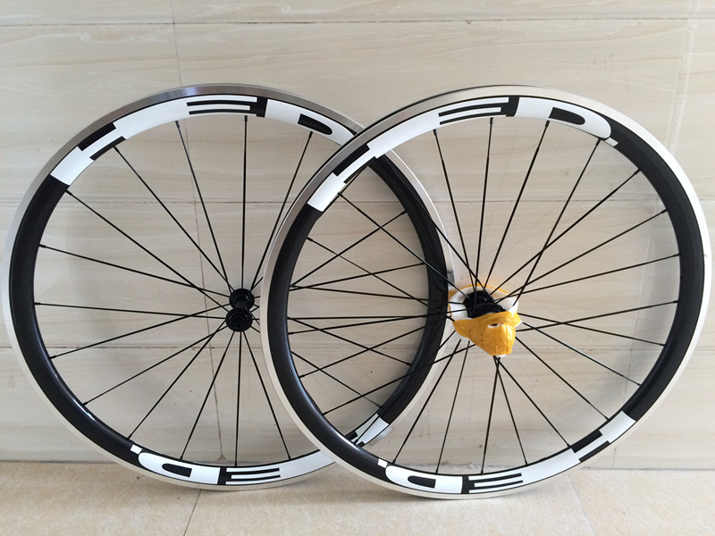 100% Full carbon fiber road bike wheelset 38mm carbon alloy wheels clincher bicycle wheel carbon wheels aluminium