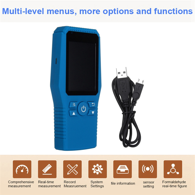 Best Price Digital Formaldehyde Detector Meter Formaldehyde Tester Sensor HCHO TVOC Meter Air Analyzers Unit Air Quality Tester free shipping jsm131s indoor air quality monitor handheld ch2o hcho tester