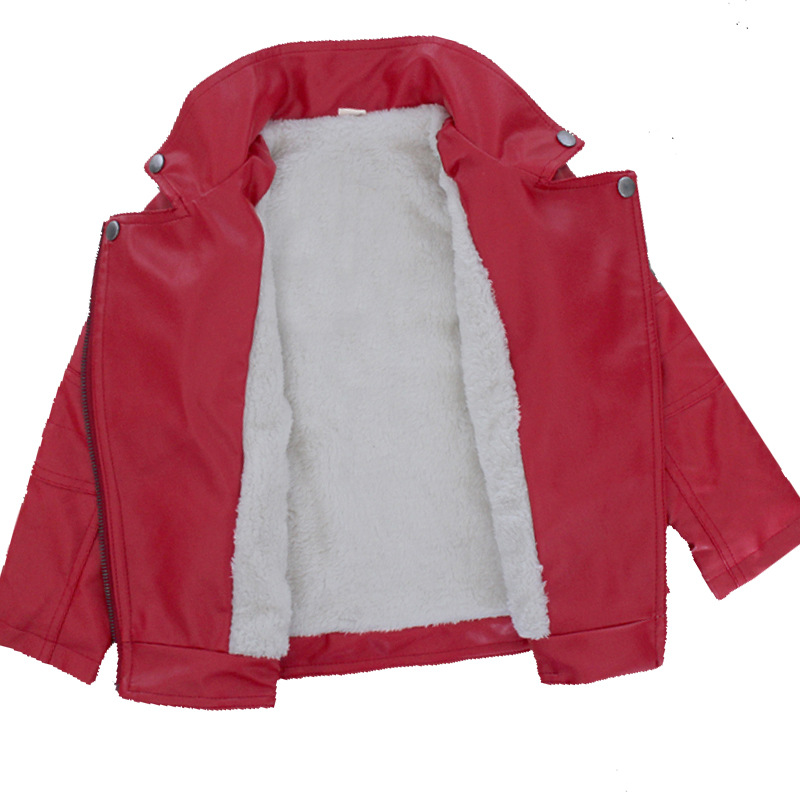 Image 3 - Brand Fashion Winter Child Coat Waterproof Heavyweight Baby Boys Girls Leather Jackets Children Outfits For Age 3 14 Years OldJackets & Coats   -