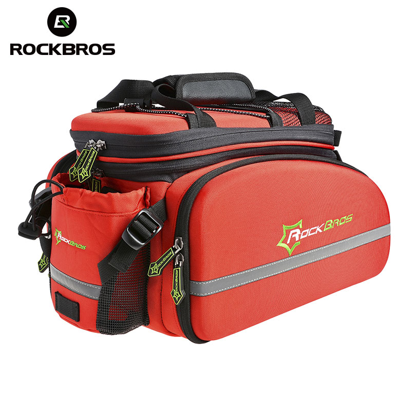ROCKBROS Cycling Mountain Road Bike Bicycle Frame Rack Bag With Rain Cover Waterproof Multifunctional Pack Bicycle
