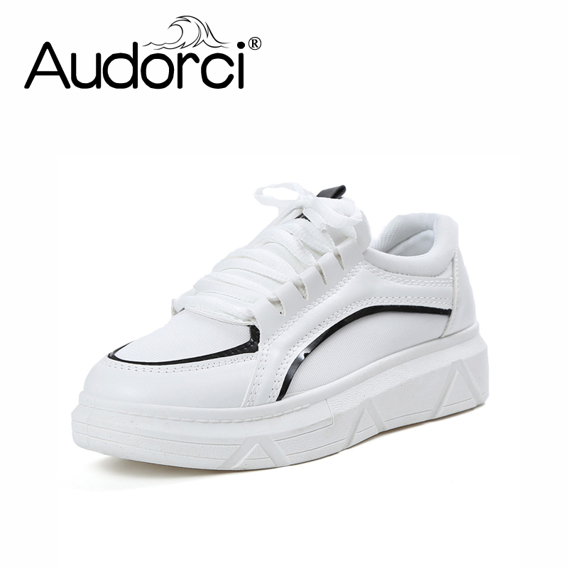Audorci 2018 Womens Fashion Sneakers Woman Low top Comfortable Casual Shoes Female Lace- ...