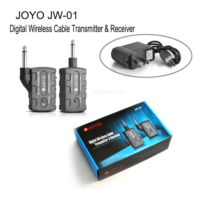 Digital Pro JW-01 Guitar/Bass Wireless 2.4Ghz Audio Transmitter Receiver kit and Rechargeable Blue Tooth Instruments free ship joyo digital wireless transmitter and receiver for bass guitar jw 01